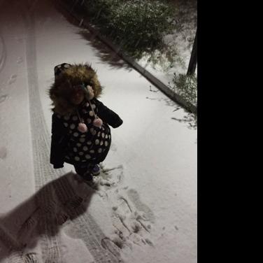 依依在雪地里